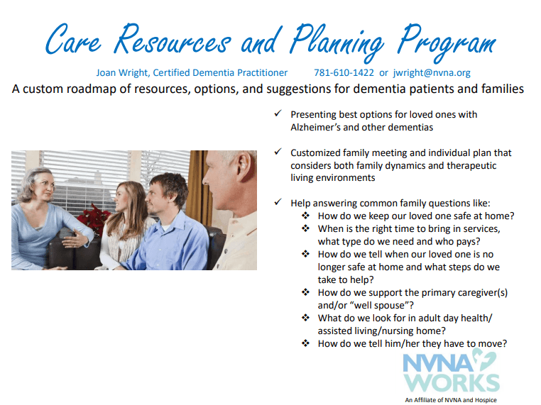 Care Resources and Planning Program Flyer