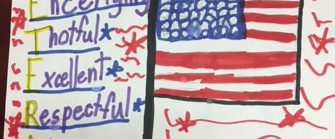 Elementary school students from Scituate and Dorchester provided notes for veterans.