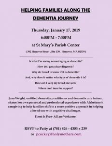 Helping Families Along the Dementia Journey @ St. Mary's Parish Center