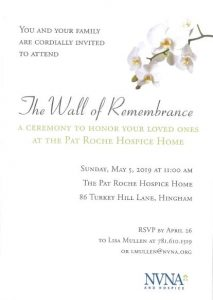 The Wall of Remembrance @ The Pat Roche Hospice Home